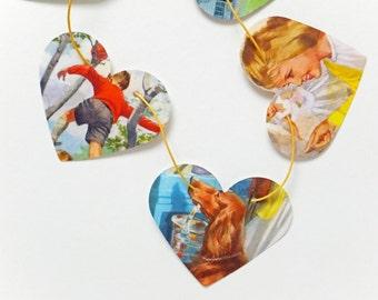 Children's garland, Playroom Decor, Ladybird Book Bunting,Kid's Bunting, Children's Bunting, Party Decor, nursery