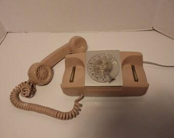 Vintage Pink Princess rotary dial phone- works!