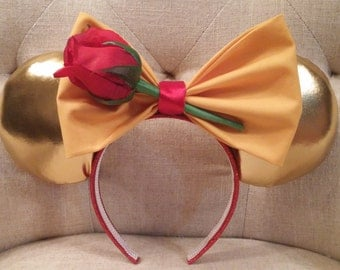 Belle Beauty and the Beast inspired Mickey ears