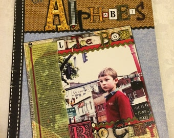 Altered Alphabets book by Eileen Collins - art supplies layout ideas