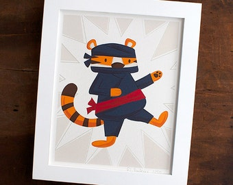 Ninja Print for a Child's Room