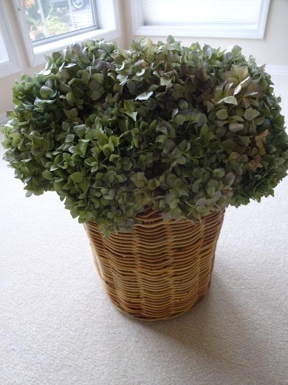 Hydrangeas hydrangea basket floral arrangement shabby chic