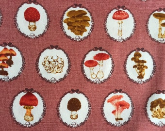 One yard mushroom pink colour fabric