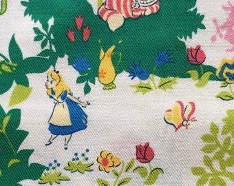 Alice in wonderland  print fabric Japanese fabric Half yard
