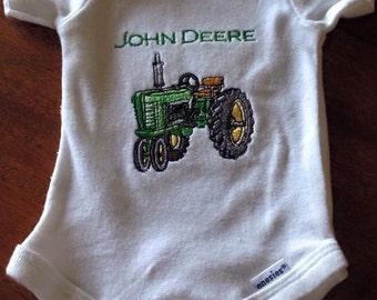 Baby Tractor Onesie