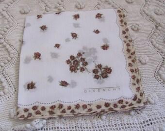 Givenchy // Designer Cotton Hankie Handkerchief - Designer - Unused