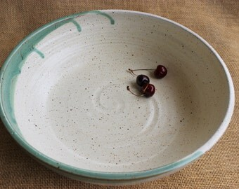 Extra large pottery serving bowl, pottery, serveware, wheel thrown, ready to ship