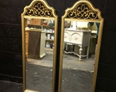 Pair of Tall Gold Mirrors