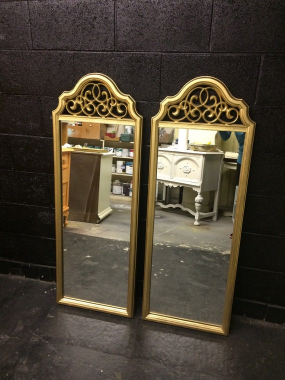 Pair of tall gold mirrors for Tall gold mirror