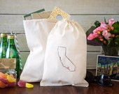 California Wedding Welcome Bags - State Out of Town Guest Bags - CHOOSE YOUR CITY