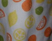 Citrus Fruit Print Rib Kn...