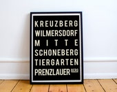Berlin Poster, Berlin Print, Travel Poster, Dorm Decor, City Print, Home Decor, New Home Housewarming Gift, Wall Art