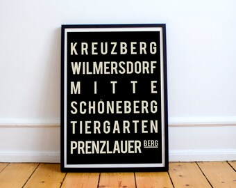 Berlin Poster, Berlin Print, Travel Poster, Dorm Decor, City Print, Home Decor, New Home Housewarming Gift, Wall Art