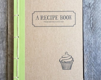 Made To Order Personalized Baker's Recipe Book-Choose Your Own Binding Color