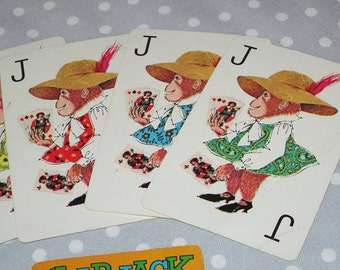 Vintage FULL Deck of SLAP JACK Cards Whitman Playing Cards Game