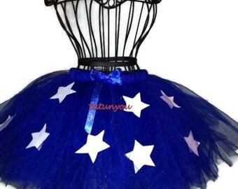 Wonder Woman Tutu-Royal Blue-Wonder Woman Tutu-Super Hero-Halloween-Birthday-School Play-Christmas