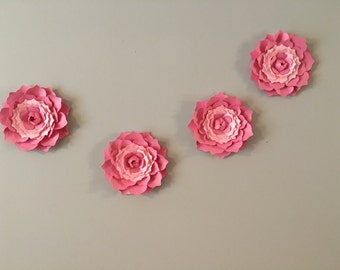 3D Wall  Ranunculus flowers  - pink Ranunculus flower  decal, wall decoration