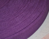 "Purple  1 and  1/4"" Cotton Webbing for belts, key chains, dog collars and more Sold by the Yard~~~Ready to Ship"