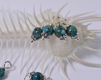 Natural Turquoise Beads 6 mm Wire Wrapped Head Pin Silver wire