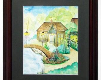 Orig Watercolor- Fairytale Village
