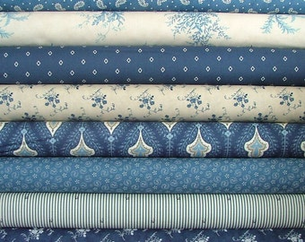 Grand Traverse Bay Fat Quarter Bundle of 8 by Minick & Simpson for Moda