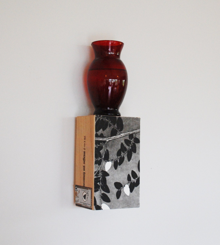 Cigar Box Wall Art: Wall Art Shelf Botanical Art Sconce Cigar Box