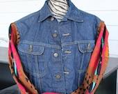 Up cycled Rez Hoofz Vintage Lee Jean Jacket size L