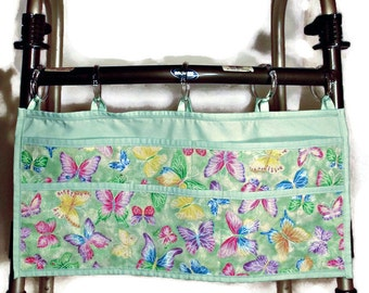 Pastel green waler bag with butterflies