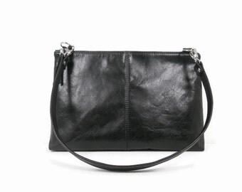 Leather Shoulder Bag, Leather Crossbody Bag, Satchel Purse, Messenger Bag, Black Leather Purse, Leather Handbags Made in USA, Kamryn Bag