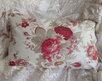 Waverly VINTAGE ROSE pillow cover garden room line