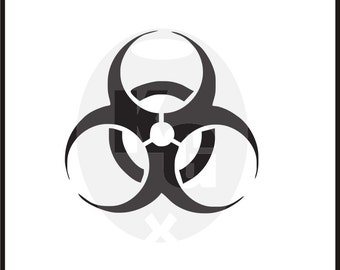 Biohazard sign symbol emblem for helmet windows laptop anywhere you want to warn of the dangers that lurk within