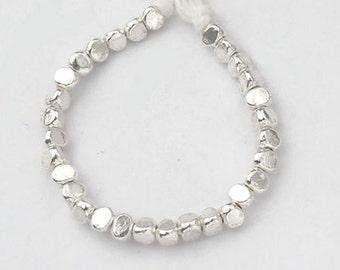 20 of Karen Hill Tribe Silver Facet Beads 3.5x3 mm. :ka3629