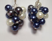 Custom Earrings - Cluster Pearls - 4 pair