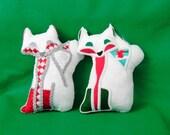 "Fox Softie ""Foxtile"" Decorative Pillow Winter Wonderland Fox Plush"
