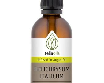 Helichrysum Italicum Infused in Organic Argan Oil for Wrinkles, Scars, Stretch Marks 1.7 fl oz / 50 Ml