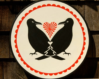 Two Ravens Hex Sign