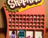 Shopkins display/holder/wall shelf/storage
