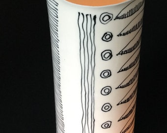 Candle Power Lumiere - ceramic lamp, fine porcelain table lamp - candle power, hand painted fine porcelain