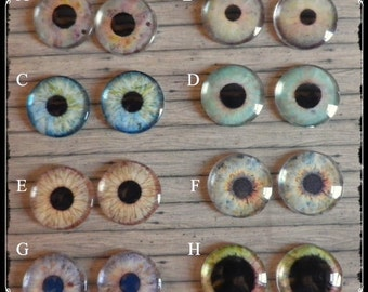 Greens & Blues EYE CHIPS for Blythe dolls by Antique Shop Dolls