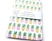 Watercolour Pineapples A6 notebook, Journal, Jotter, Sketchbook