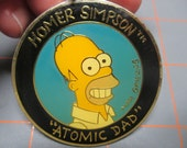 Vintage Homer Simpson Key Chain/Holder - 1990