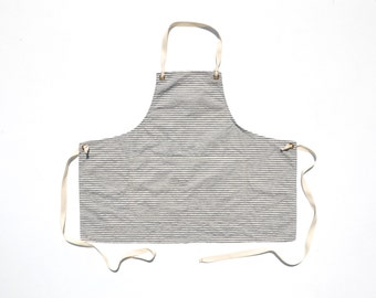 Apron No. 1 in Indigo Stripe