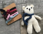 Knit Alpaca Teddy Bear with interchangable scarves // Photoprop //