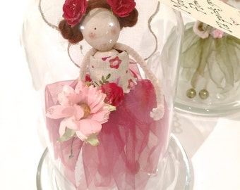 Fairy Gift - In Glass Dome Display Case
