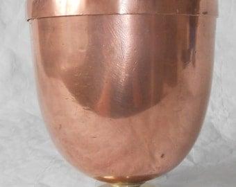 Vintage copper ice cream mold stamped C T G