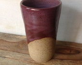 Ceramic Tumbler, Handmade Pottery Cup, Handless Mug, Smokey Merlot Tumbler, Tea Cup, Handmade Pottery Gifts, Handmade Pottery Tumbler