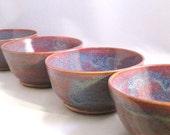 CUSTOM ORDER - Two Plum Ceramic Bowls