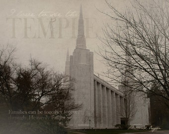 Portland Oregon LDS Temple Print 16x20