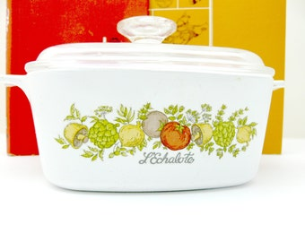 Corning Ware Casserole Covered Dish - Spice of Life - L'Eschalote - 1-1/2 Qt