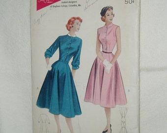 Vintage Butterick Pattern, Tailored Dress, 6060 Size 17